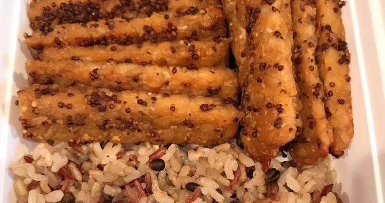 Vegan Mustard Maple Tempeh