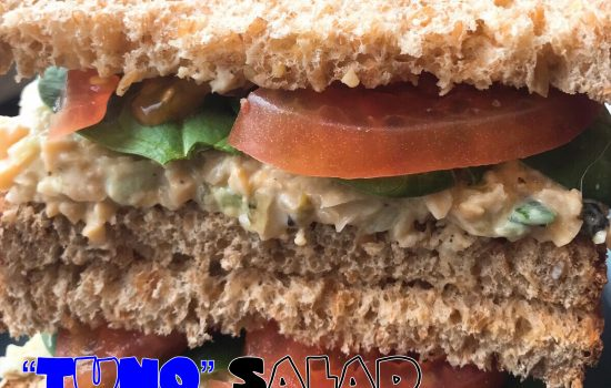 Vegan TuNO Salad Sandwich