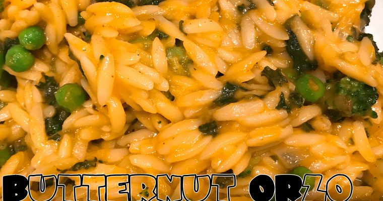Vegan Butternut Orzo with Greens
