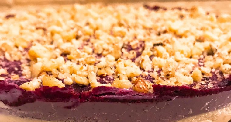 Vegan No-Bake Bluberry Cheesecake