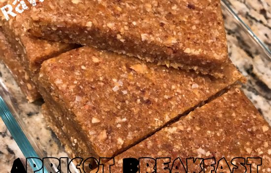 Raw Vegan Apricot Breakfast Bars