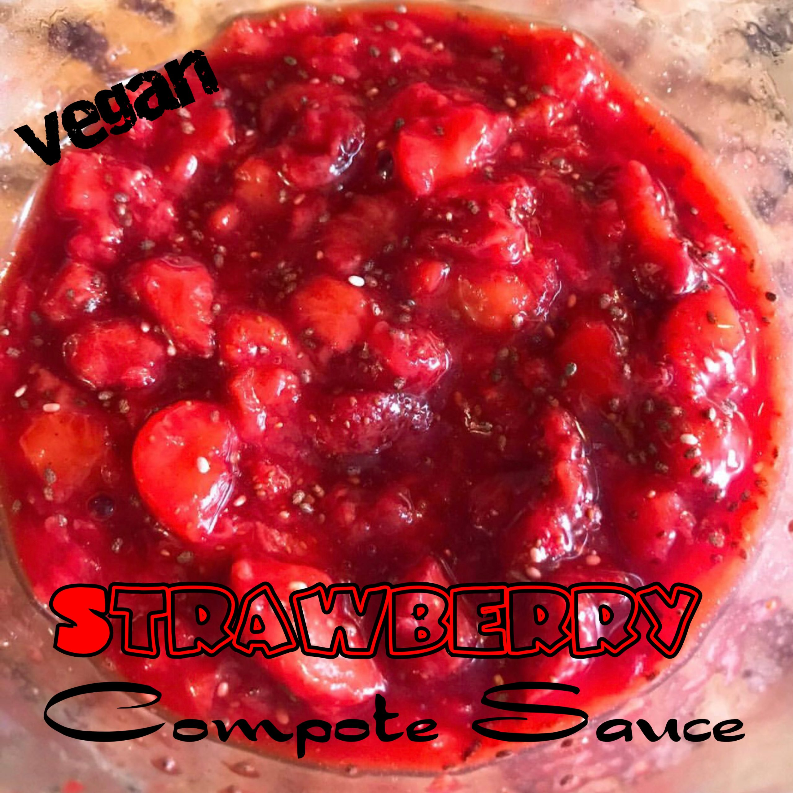 Vegan Strawberry Compote {Sauce}