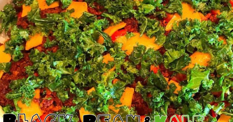 Vegan Black Bean & Kale Loaded Nachos