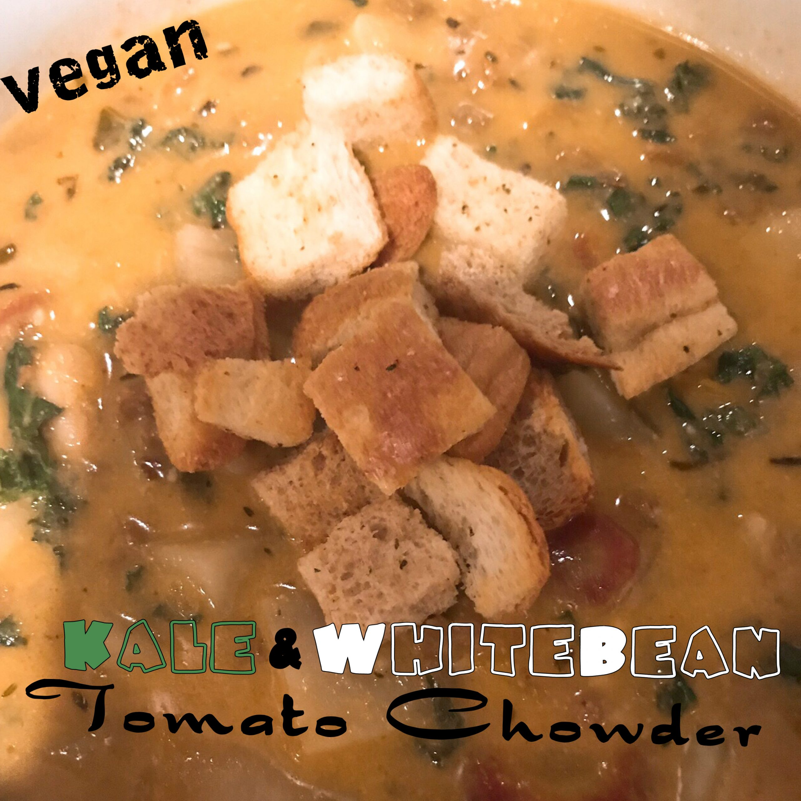 Vegan Kale & White Bean Tomato Chowder