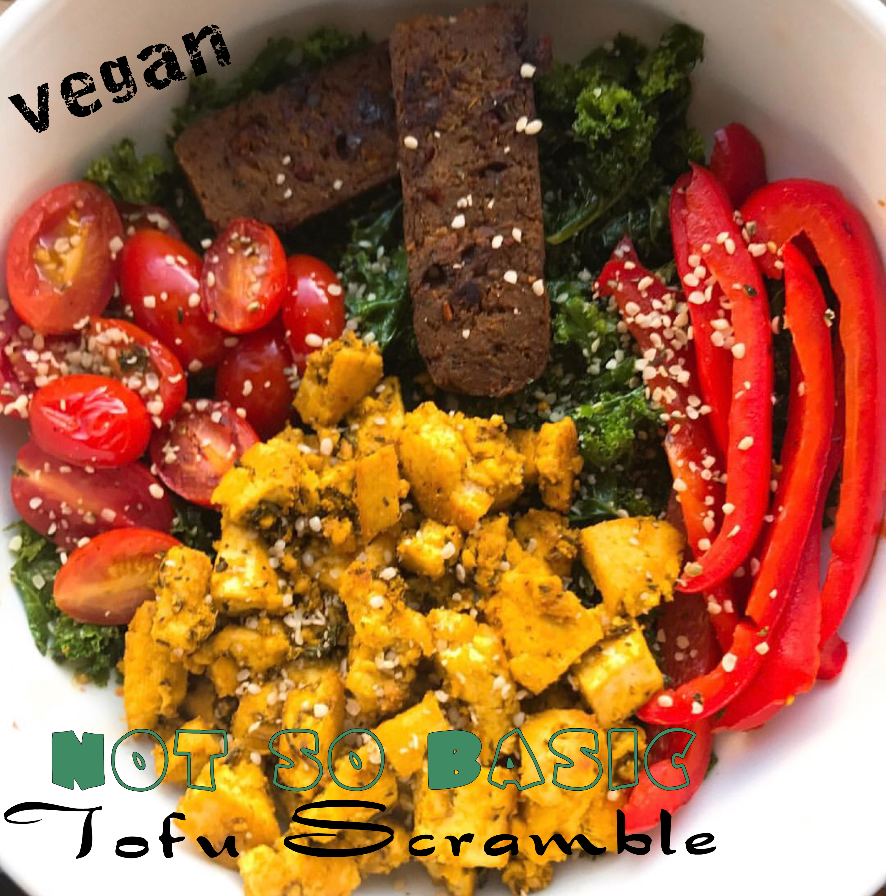Vegan Not So Basic Tofu Scramble