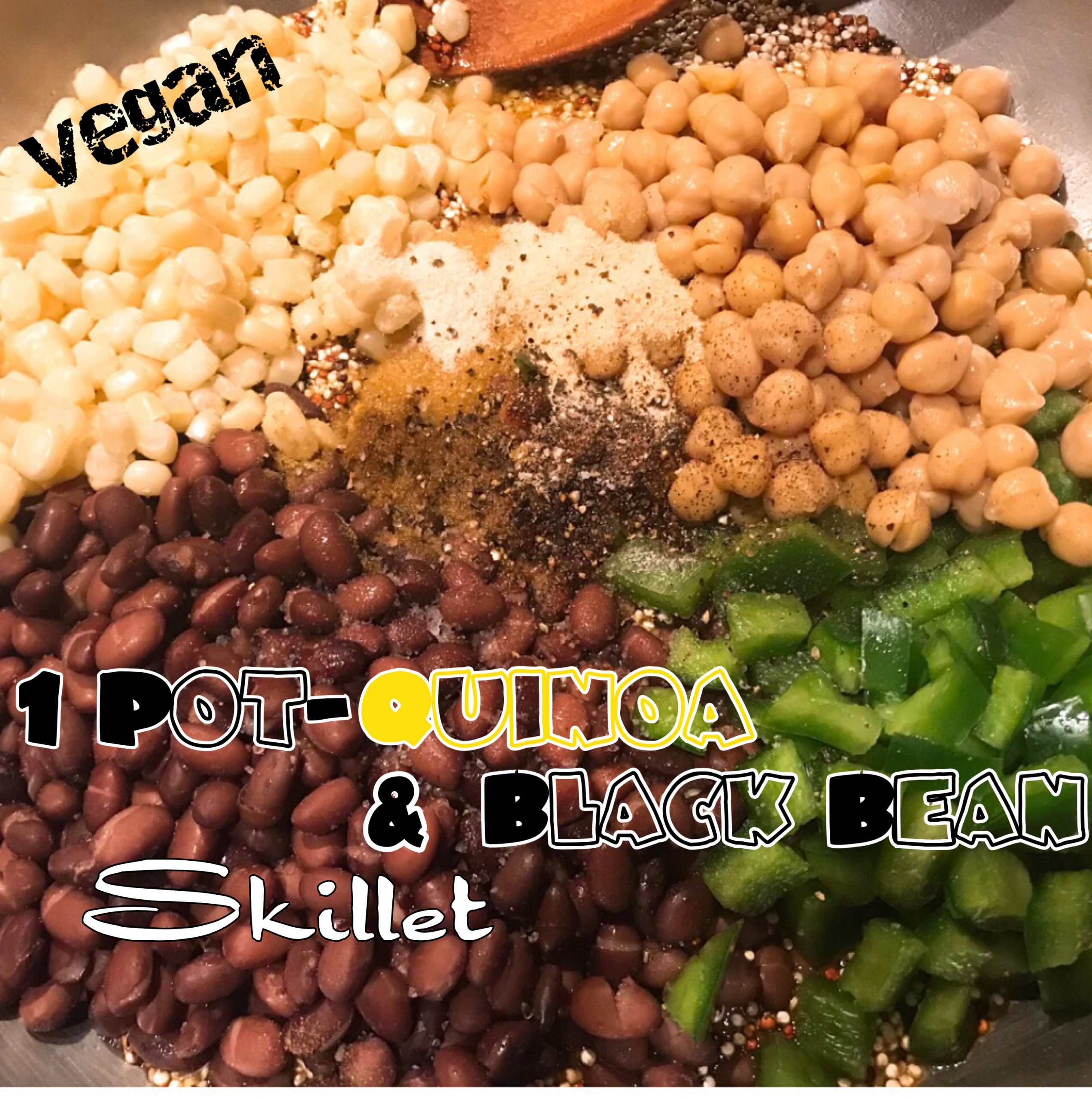 1 Pot-Quinoa & Black Bean Skillet