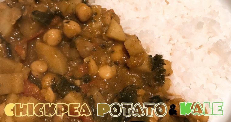 Vegan Chickpea, Potato & Kale Curry