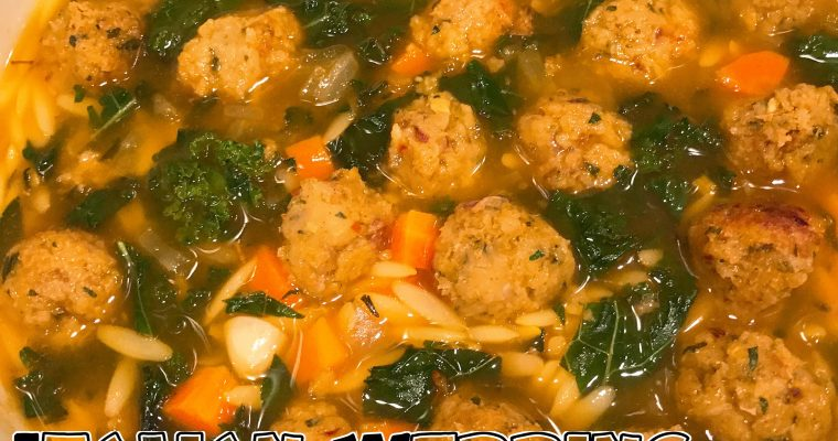 Vegan Italian Wedding Soup with Kale