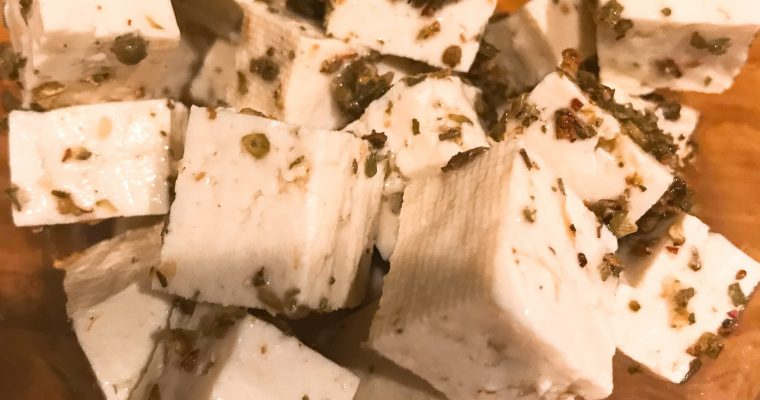 "Vegan Oregano Tofu ""Feta"" Crumbles or Fresh ""Mozzarella"" Not Cheese"