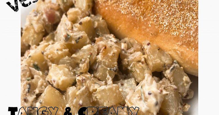 Vegan Tangy Potato Salad with Sautéed Onions