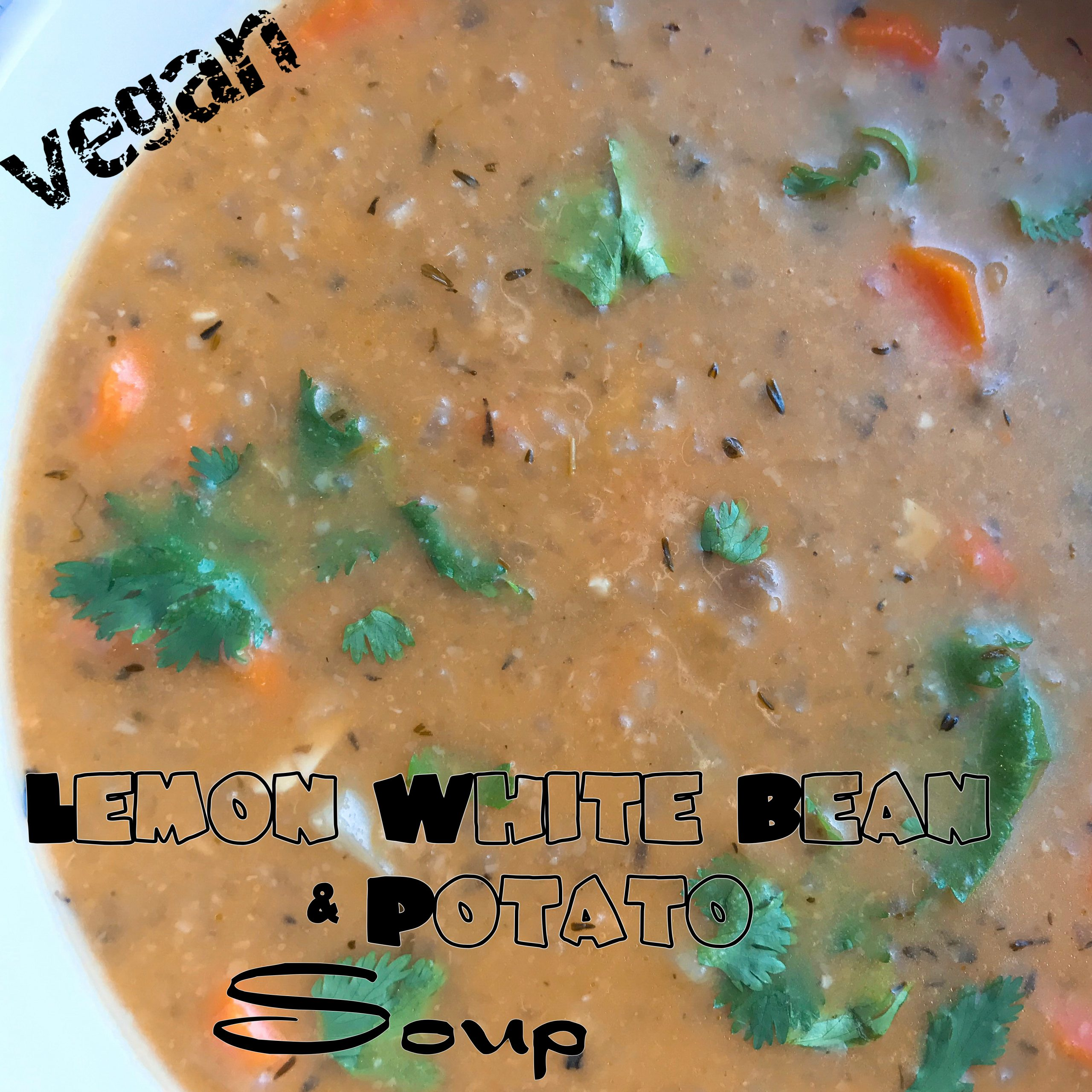 Vegan Lemon White Bean & Potato Soup