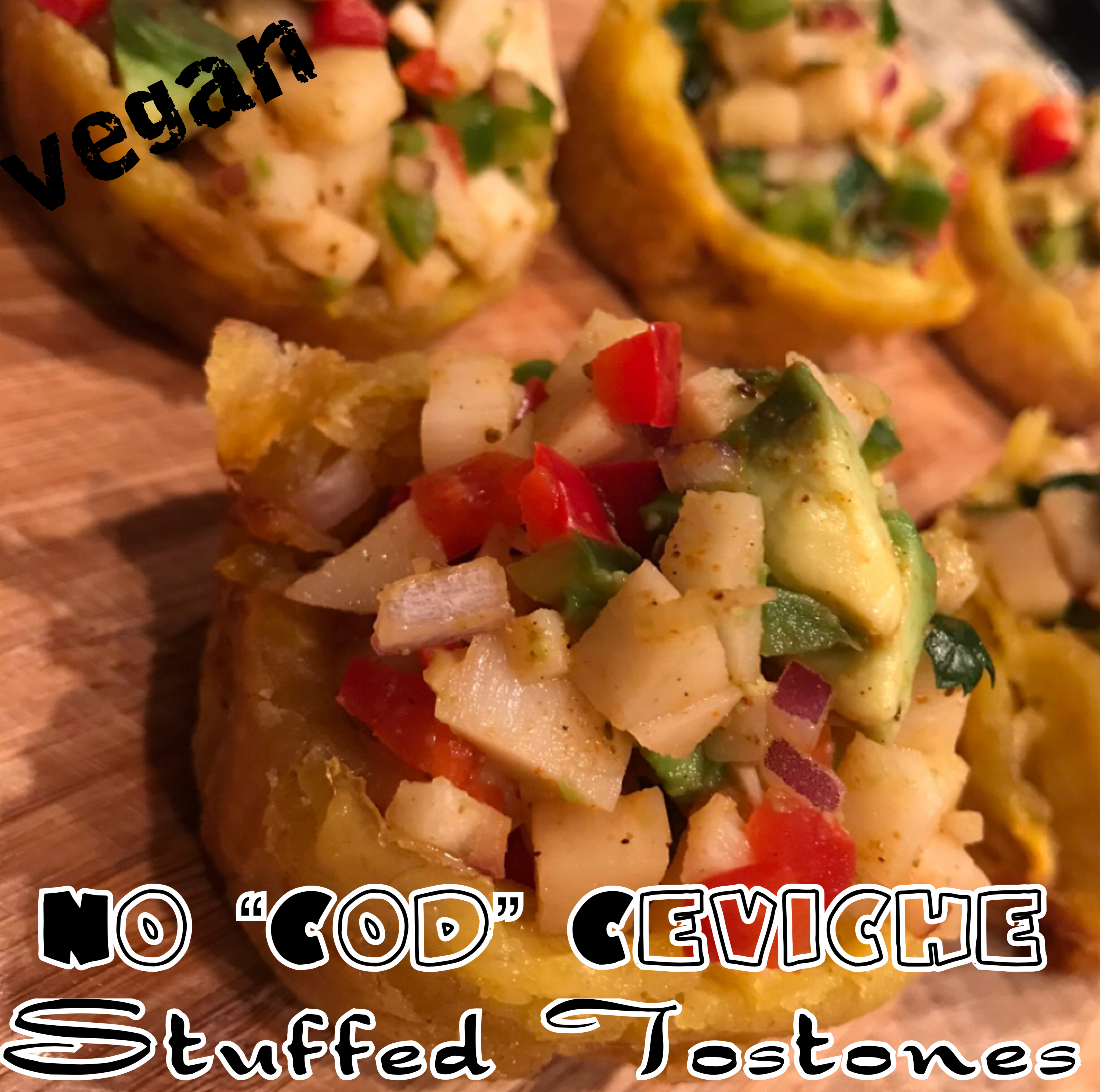 "Protected: Vegan Not ""Cod"" Ceviche Tostone Rellenos"